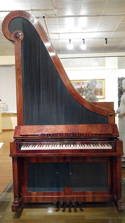 【ウィーン歴史博物館】初期のアップライトピアノ