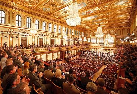 ウィーン楽友協会の黄金のホール
